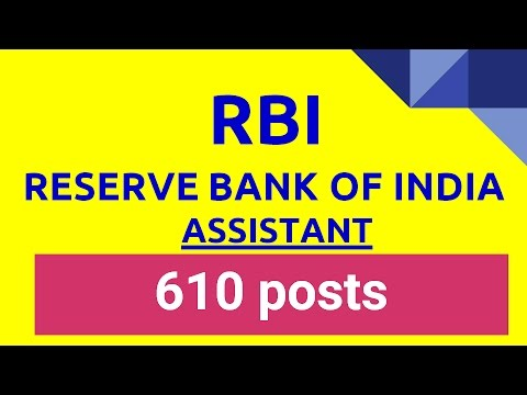 RESERVE BANK OF INDIA Vacancy 610 पद RBI VACANCY FOR POST OF ASSISTANT 2016 Syllabus Exam Date