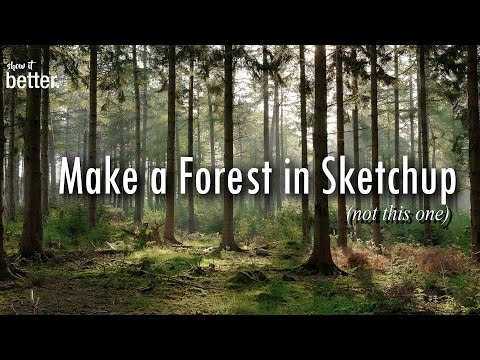 Making a Forest  in Sketchup and Vray -   Architecture Visualisation-