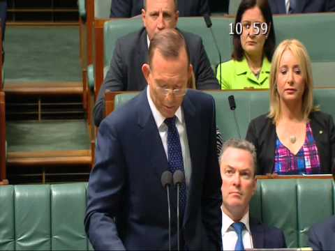 Prime Minister Tony Abbott China Australia Free Trade Agreement