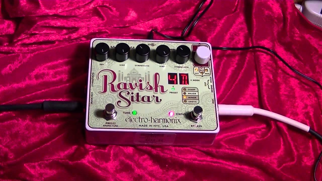 ravish sitar electro harmonix guitar effects pedal demonstration youtube. Black Bedroom Furniture Sets. Home Design Ideas
