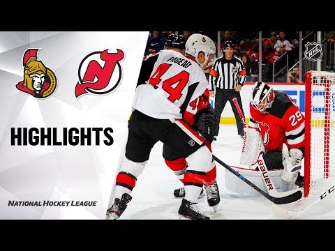 NHL Highlights | Senators @ Devils 11/13/19