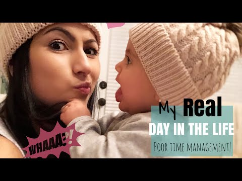 REAL DAY IN THE LIFE OF SAHM 8 MONTH OLD BABY// POOR TIME MANAGEMENT MESS