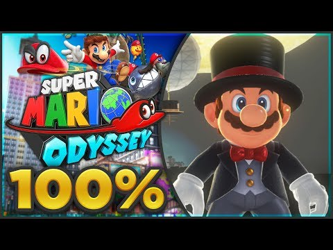 Super Mario Odyssey - Cap Kingdom 100% All Moons & Coins! [🔴LIVE]