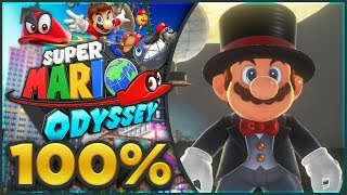 Super Mario Odyssey - Cap Kingdom 100% All Moons & Coins! [🔴LIVE]