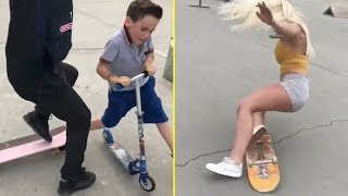 Try Not To Laugh Watching Cringe Skaters & Scooter Kids Vine