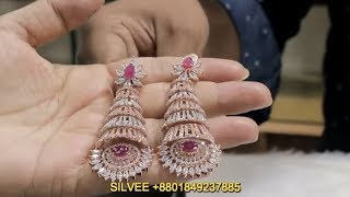 Latest & Most beautiful  Earrings collection ৷৷ Diamond Cut Earrings Designs 2019