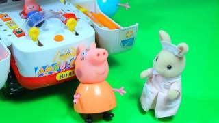 Свинка Пеппа Джордж сломал Ногу Делает Укол Скорая Помощь Мультики для детей из игрушек Peppa Pig