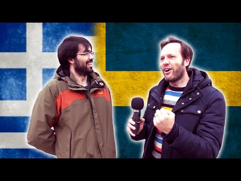 Greek guy tries to speak Swedish, Swede tries to speak Greek - Language challenge