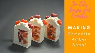 Making Romantic Amber Artisan Cold Processed Soap Short Version