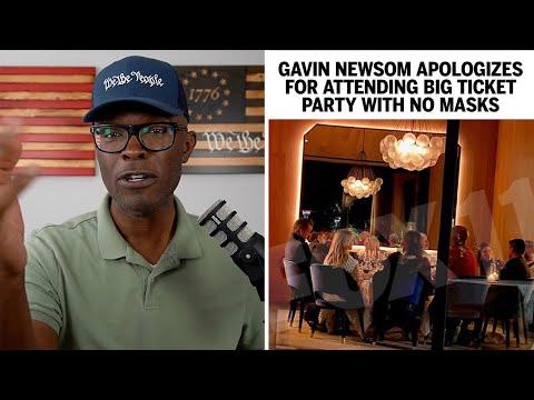 "Gavin Newsom Attends HUGE Party Despite Virus, ""Apologizes"""