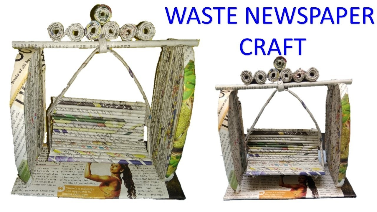 How to make a beautiful swing from news paper diy best for Best out of waste from newspaper video