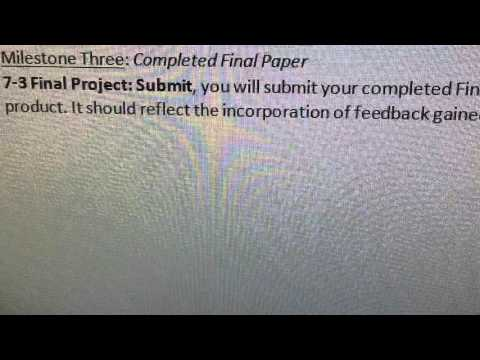 Final project milestone three in industrialization psychology at Southern New Hampshire University