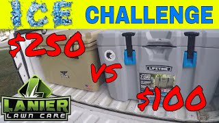 Orca Cooler vs Lifetime Cooler, Ice Retention Challenge
