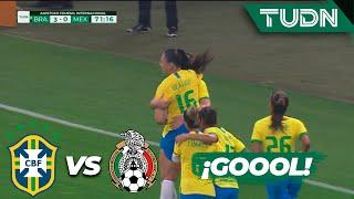 ¡Gol de Brasil y esto ya es goleada! | Brasil 3 - 0 México | Amistoso Femenil Internacional  | TUDN