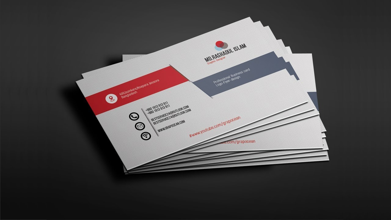 Professional Business Card Design Tutorial Photo Cc 2018