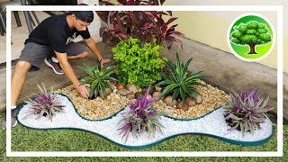 💚 DIY - GARDEN DECORATION 12 / GARDEN WITH STONES