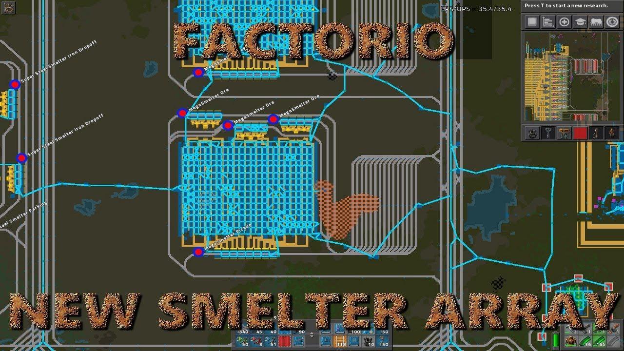 Factorio 0 16 New Smelter Array