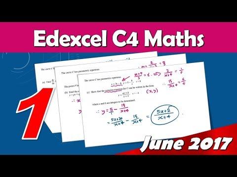 C4 Edexcel June 2017   Question 1 Walkthrough   Parametric Equations & Differentiation