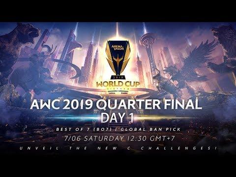 AWC 2019 Quarter Final Day 1 - Garena AOV (Arena Of Valor)