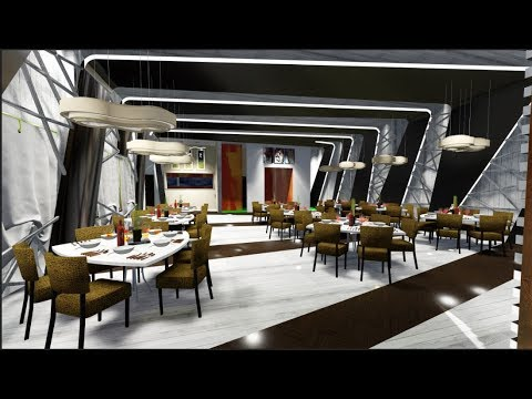Speed build | Restaurant interior REVIT+SKETCHUP+LUMION