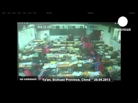 Sichuan earthquake monitoring video released  euronews, no comment