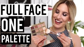 FULL FACE USING ONE EYESHADOW PALETTE: Tarte Tartelette In Bloom | Jamie Paige