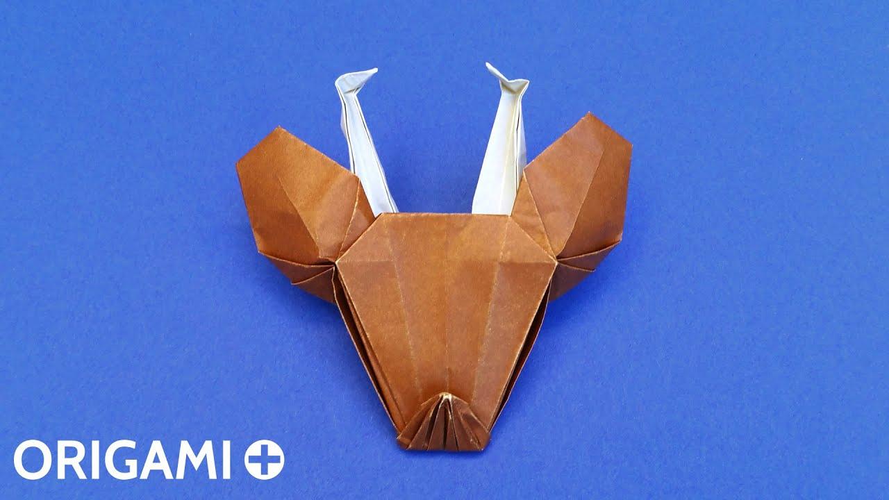 Origami Reindeer Head