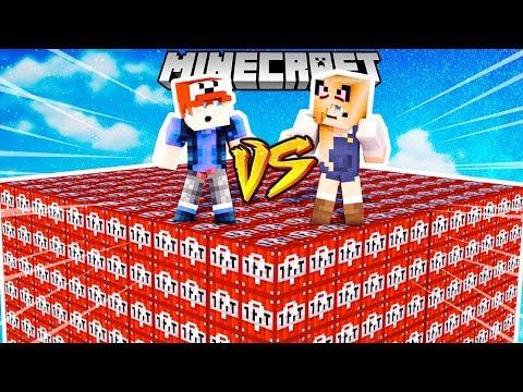 WYZWANIE WYBUCHOWE LUCKY BLOCKI MINECRAFT (TNT Lucky Block) | Vito vs Bella
