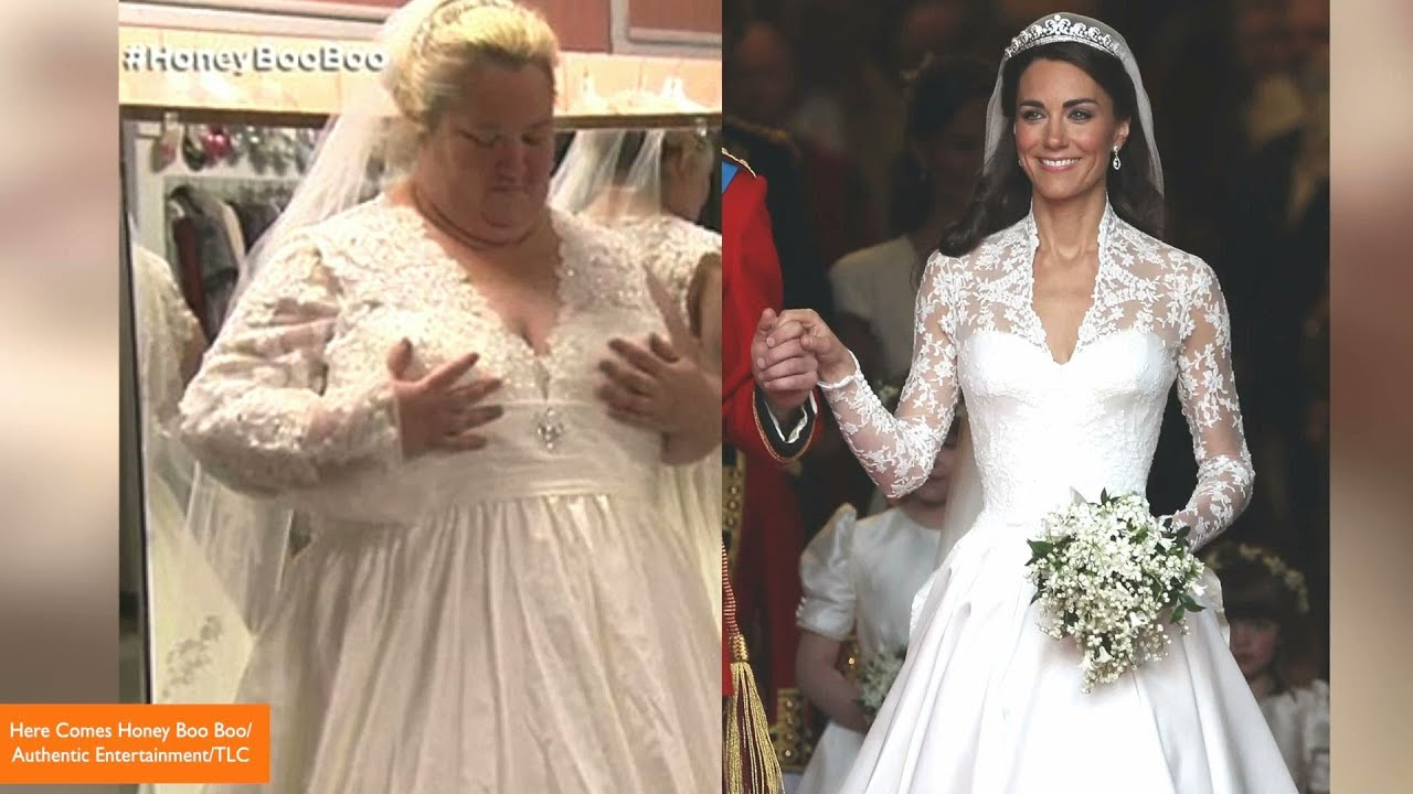Honey Boo Boo\'s Mama June Tries On Replica Royal Wedding Dress ...