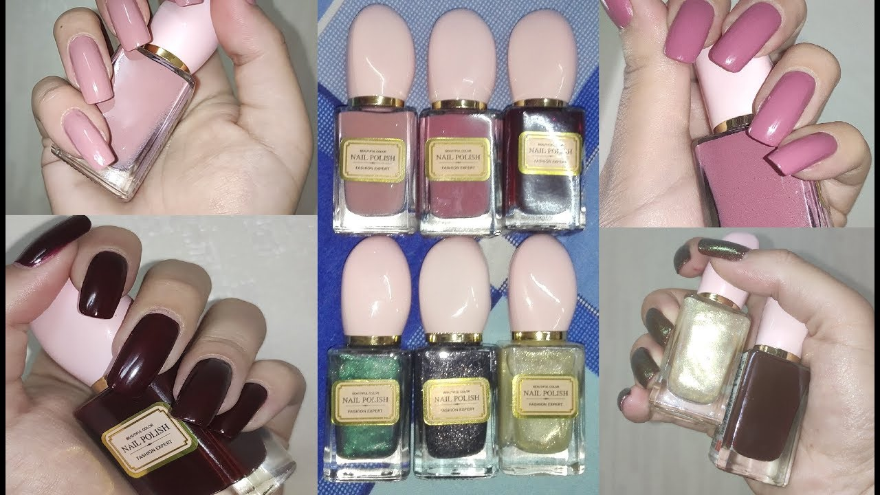 Miniso Nail Polishes Swatch And Review Product Review Rose Pearl Youtube