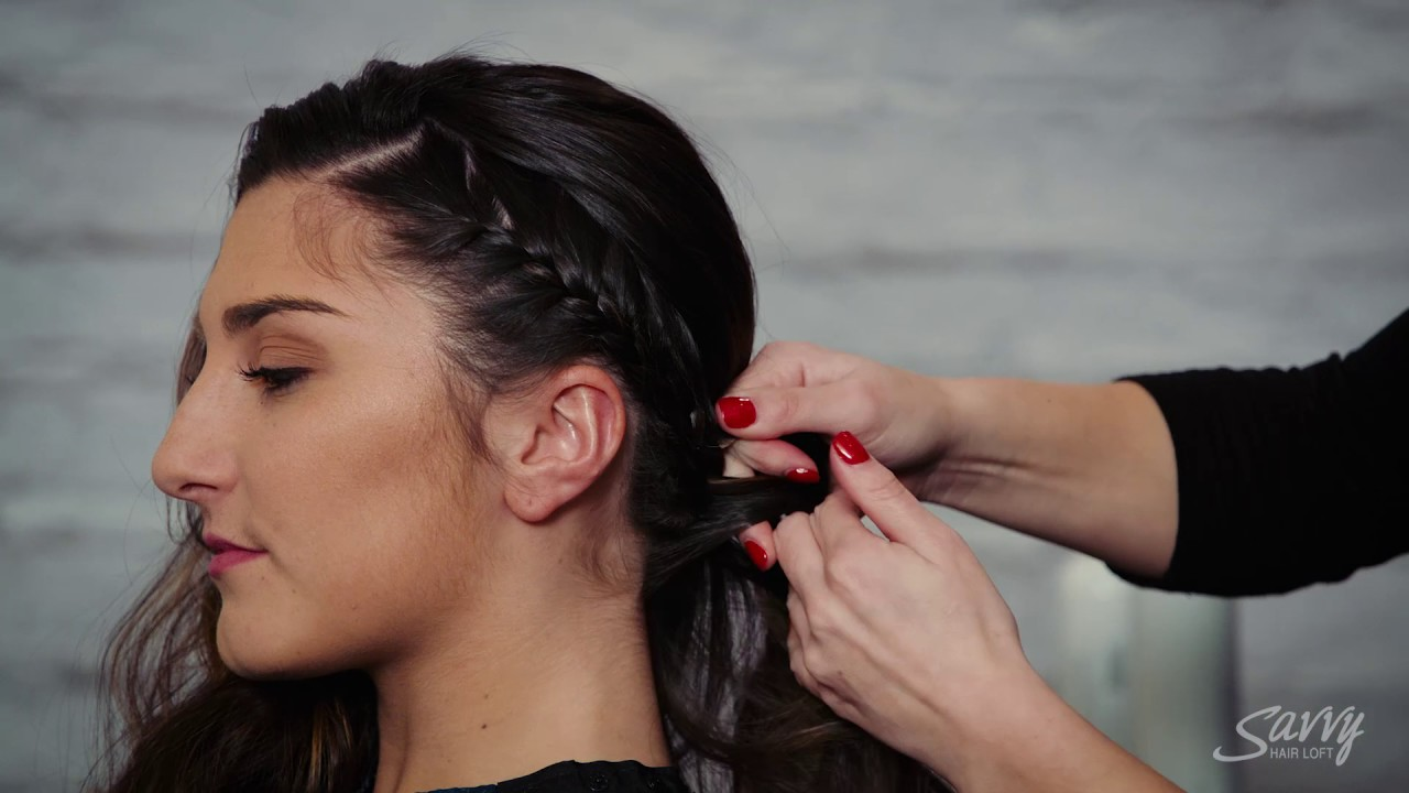 Get The Look Classic French Braid With Vintage Curls Youtube