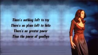 Madonna - The Power Of Good-bye Karaoke / Instrumental with lyrics on screen