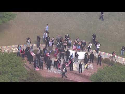 Aerial footage of Newnan neo-Nazi rally