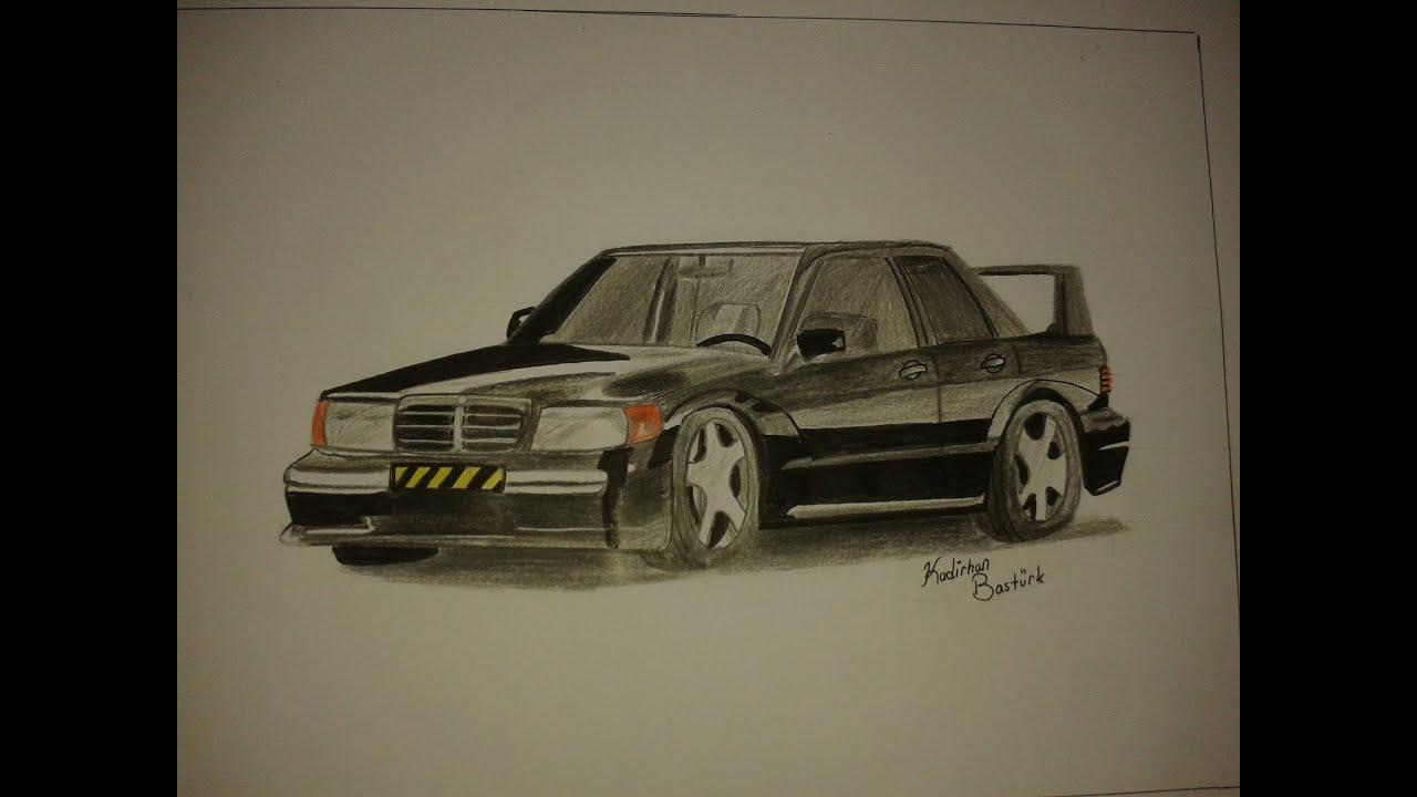 Range Rover Drawing >> Araba Çizimi #4 MERCEDES - YouTube