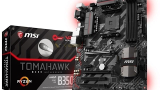msi b350 tomahawk am4 gaming motherboard for 110 us