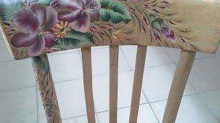 Как декорировать стул самостоятельно? Декупаж. Вытворяшки