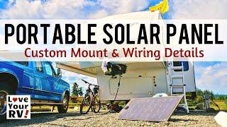 Portable Solar Panel Mod for RV Boondocking