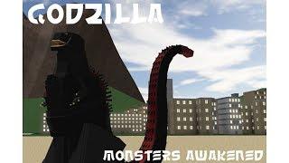 Roblox Ep. 38 Godzilla: Monsters Awakened: playing as Shin Godzilla, Ghidorah, and Rodan