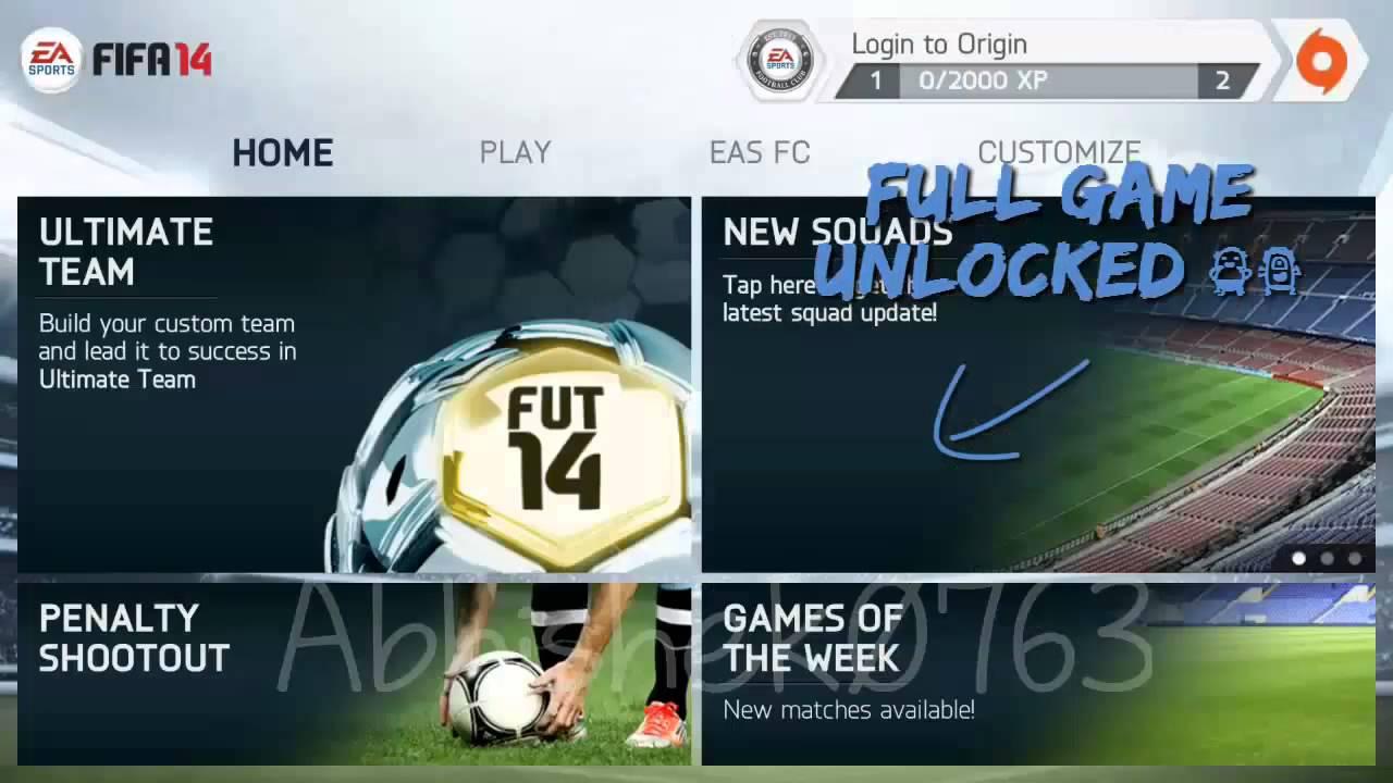 FIFA 14 All modes Unlocked (No root,No computer Needed) Android ...FIFA 14 All modes Unlocked (No root,No computer Needed) Android