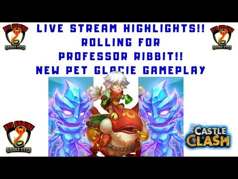 New Pet | Glacie | Gameplay | Rolling For | New Hero | Professor Ribbit | Castle Clash