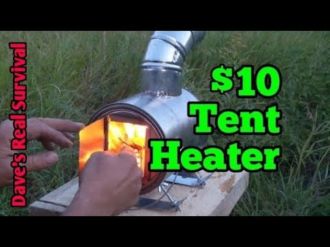174. Paint Can Stove - EASY DIY Micro Hot Tent Heater.