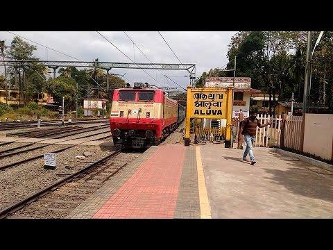 Beautiful WAP1 Thiruvananthapuram Netravati Express arriving at Aluva