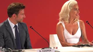 Lady Gaga and Bradley Cooper A Star Is Born Press Conference