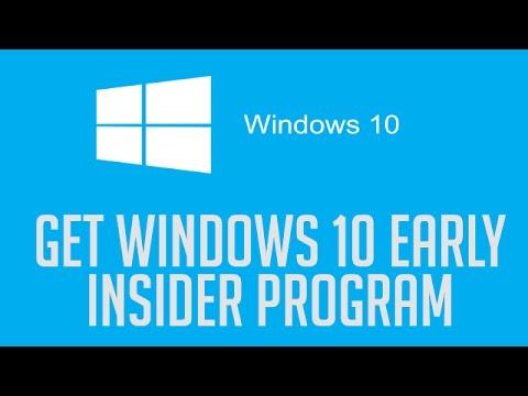 Get Windows 10 Early Through the Insider Program