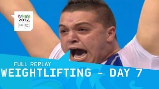 Weightlifting - Day 7 Group A Men +85 kg | Full Replay | Nanjing 2014 Youth Olympic Games