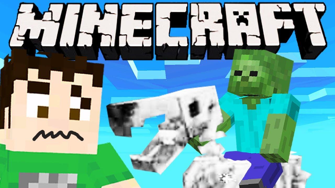 Minecraft - HORSE RIDING ZOMBIE