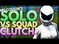 My Cousin's INSANE Solo vs Squad Clutch | Fortnite Gameplay