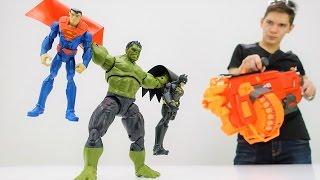 Супергерои: видео для мальчиков! Супермен и Бэтмен стали плохими!