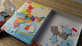 Funskool India Map Jigsaw Floor Puzzle - Unboxing & Review