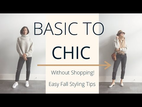 Easy Ways to Make Fall Basics Look Chic | Fall Outfit Building Ideas | Slow Fashion thumbnail